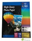 150 Sheets High Premium Glossy Inkjet Photo Paper 85x11 Letter Size 150gsm