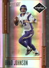 2006 Leaf Limited Bronze Spotlight Vikings Football Card 100 Brad Johnson 50
