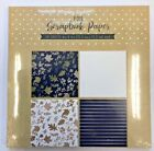 24 sheets foil scrapbooking paper pad 6x 6 fall themed leaves striped cards