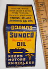 vintage EMPTY Matchbook Sun Oil Company Service Station Toledo Ohio Sunoco Oil