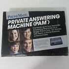New Vintage PhoneMate PAM Private Answering Machine 1991