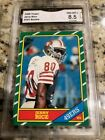1986 Topps Football Complete Set With a Bonus Jerry Rice GMA Graded 8.5