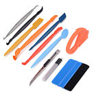 Pro Squeegee Felt Kit Car Vinyl Wrap Application Tools 10 Blades Gasket Scraper
