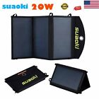 Folding 20W Solar Panel Battery SUNPOWER Charger Power Bank 29USB Mobile Charge