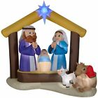 LightShow Airblown Inflatable Kaleidoscope Nativity Scene Outdoor Decoration