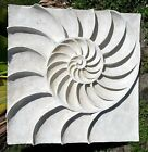 NAUTICAL BEACH HOUSE 3ft NAUTILUS SHELL WALL ART SCULPTURE Modern Relief Design