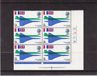 GB 1969 First Flight of Concorde 9d Cylinder Block 2A1B1C1D MNH