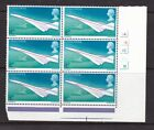 GB 1969 First Flight of Concorde 4d Cylinder Block 1A1B1C1D1E MNH