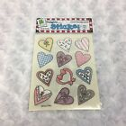 Provo Craft Heart Shapes with Patterns Acid Free Clear Bkgrnd Scrapbook Stickers