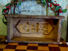 LG Primitive Carved Wood Wooden Farmhouse Brick Butter Mold initials SBF 121/2