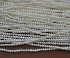 10 Strands Small 3 4mm Natural White Freshwater Pearl Loose Beads 14