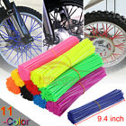 72X Motorcycle Spoke Wraps Skins Cover Wheel Rim Guard Protector For Most Bikes