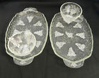 Anchor Hocking Snack Sets Patio Sets Crystal Grape Clusters and Leaves 2 sets