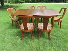 VINTAGE HICKORY CHAIR GATE-LEG DINING TABLE AND 6 CHAIRS