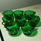 Vintage Anchor Hocking Forest Green Punch Cup Set of 8