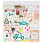 Crate Paper POOLSIDE 12x12 Chipboard Summer Swim