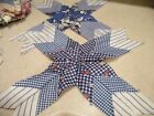 Vintage Lot Of Quilt Blocks 35 Are Done and There are 16 Singles Hand Sewn Star