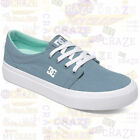 DC SHOES Womens TRASE TX Skate Skater Streetwear Casual Blue Canvas Sneakers