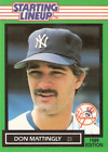 1989 Kenner Starting Lineup Cards #89 Don Mattingly