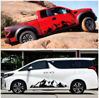 DIY Black Snow Mountain Decal Vinyl Sticker for Off Road Car Camper Van RV Decor