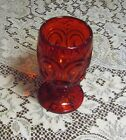 Vintage LE Smith Ruby Red Stars and Moon Water Goblet 5 7/8