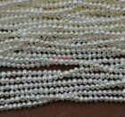 wholesale 10 Qty small beads real freshwater pearl 3 4mm white loose strings 14