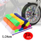 72Pcs Motorcycle Bicycle Spoke Skins Covers Wraps Wheel Rim Guard Protector USA
