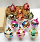 Vintage Antique Poland Hand Blown Glass Christmas Ornament Mica Lot Ball Bauble