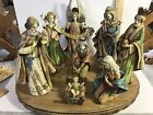 Resin Wood Look 8 Piece Nativity Set With Base