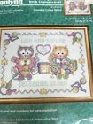 Janilynn Counted Cross Stitch Kit Cuddly Kittens Birth Announcement 14 X 11