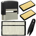 Custom Personalised Self Inking Rubber Stamp Kit Business Name Address DIY