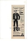 VINTAGE LEE RIDERS JEANS JACKETS OVERALLS CASEY TIBBS COWBOY AD PRINT C702