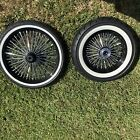 CHROME MOTORCYCLE 21  16 FRONT REAR CUSTOM WHEEL AND TIRE SET HARLEY CRUISER