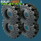 10-16.5 10x16.5 Solid Skid Steer Tires 4 Rims 30x10-16 Fits Case Bobcat Cat