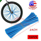 72x Spoke Skins Covers Wraps Wheel Rims Guard Protector For Motorcycle Dirt Bike