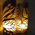 Tall glass Art Work butterfly One Vase  Candle Holder dinner light  gift