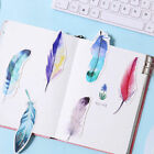 NEW 30Pcs Pack Colorful Feather Bookmark Paper Cartoon Animals Bookmark Gift PF