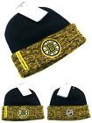 Boston Bruins New Adidas Cuffed Fanatics Beanie Black Gold Player Era Hat Cap