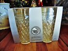 4 NEW OTHER(old stock) VINTAGE ANCHOR GLASS WARE 16oz GOLDEN HARVESTER TUMBLERS