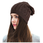 Lamdgbway Slouchy Beanie Knit Stretch Braided Cable Warm Winter Hats Skip Caps