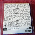 STAMPIN UP RUBBER STAMP SET A LITTLE BIT OF HAPPINESS FLOWERS HEART BUTTERFLY
