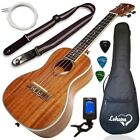 BEST Ukulele Concert Size Bundle 2 Strap Case Tuner Picks Pick Holder Free Video