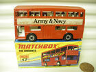 MATCHBOX MB17B 1972 ARMY  NAVY WITH CHARCOAL METAL BASEPLATE MINT BOXED