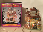 Spooky Village Halloween Pumpkin Factory with Lights Great Condition