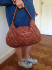 PIED A TERRE BROWN HOBO AGED DISTRESSED DISIRABLE LEATHER SHOULDER GRAB BAG