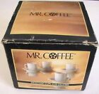 👀K Vintage Mr. Coffee Demitasse 4 Cups and Saucers Espresso Cups w/ Box