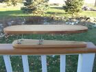 Vtg Wood Sleeve Ironing Board + Pads ~ Small Wooden Primitive Decor Farm Laundry