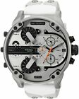 ✅  DIESEL DZ7401 MR DADDY 2.0 White Multiple Time Zone Chronograph Mens Watch
