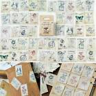 46Pcs box Stamp Paper Stickers DIY Diary Scrapbooking Seal Stickers Stationery