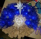 Nativity Wreath I light up Handmade Christmas Holiday Winter